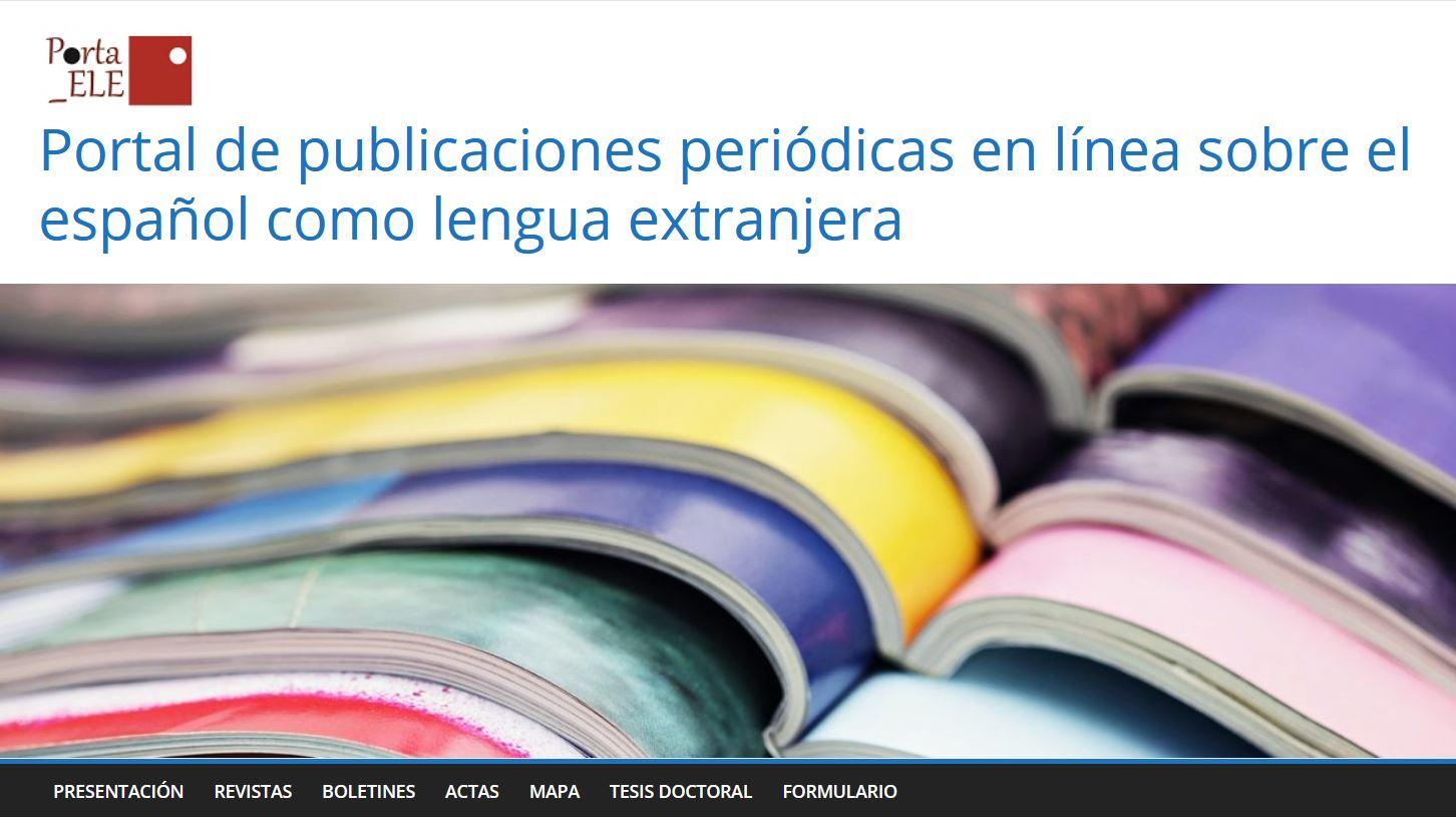 Portal de publicaciones periódicas en línea sobre el español como lengua extranjera